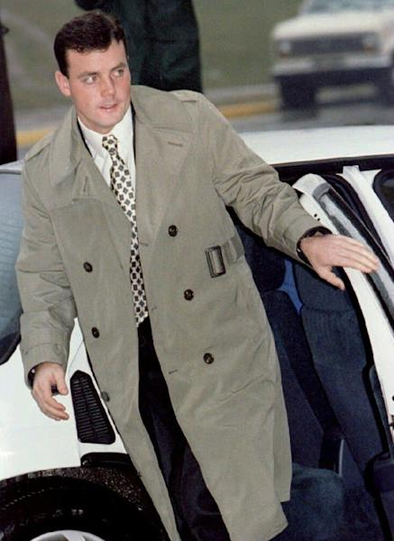 John Wayne Bobbitt arriving at court