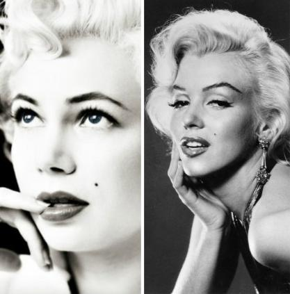 "<div class=""caption-credit""> Photo by: Source via OMG! Yahoo Source vie IMDb</div><div class=""caption-title"">Michelle Williams as Marilyn Monroe</div>While there have been a dozen or so actresses who have portrayed Marilyn Monroe on film, Michelle Williams was by far the best. The resemblance is just uncanny! Michelle played the iconic blonde in <a rel=""nofollow"" target=""_blank"" href=""http://www.imdb.com/title/tt1655420/"">My Week With Marilyn</a> in 2011. <p>  <br> </p>"