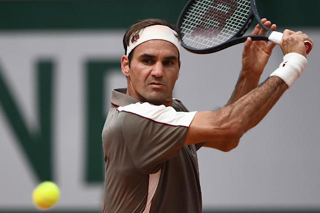 Roger Federer played his first French Open match since 2015 (AFP Photo/Anne-Christine POUJOULAT )