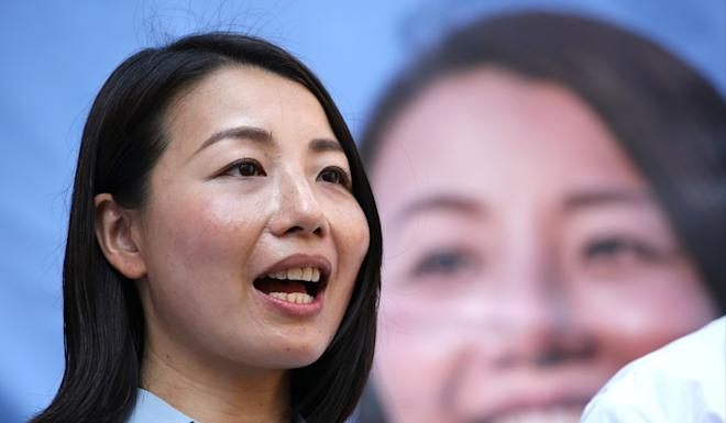 Ousted lawmaker Lau Siu-lai was barred from running in a Kowloon West by-election in 2018, because returning officers did not believe she had changed her stance on self-determination. Photo: Edmond So