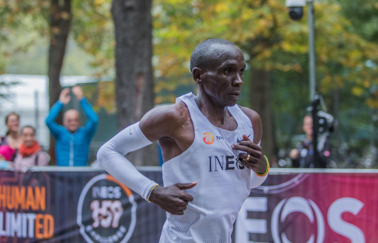 In a world full of doubters and chastisers, Kipchoge reminds us that anything is possible. (Photo by Robert Szaniszlo/NurPhoto via Getty Images)