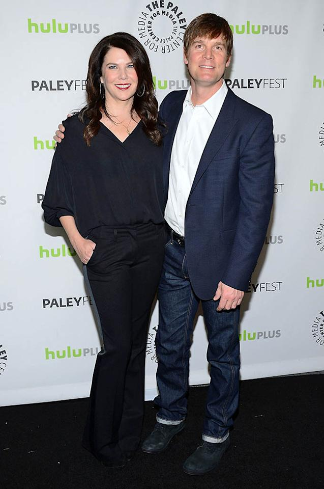 "Lauren Graham and actor Peter Krause attend the 30th annual PaleyFest featuring the cast of ""Parenthood"" at the Saban Theatre on March 7, 2013 in Beverly Hills, California."