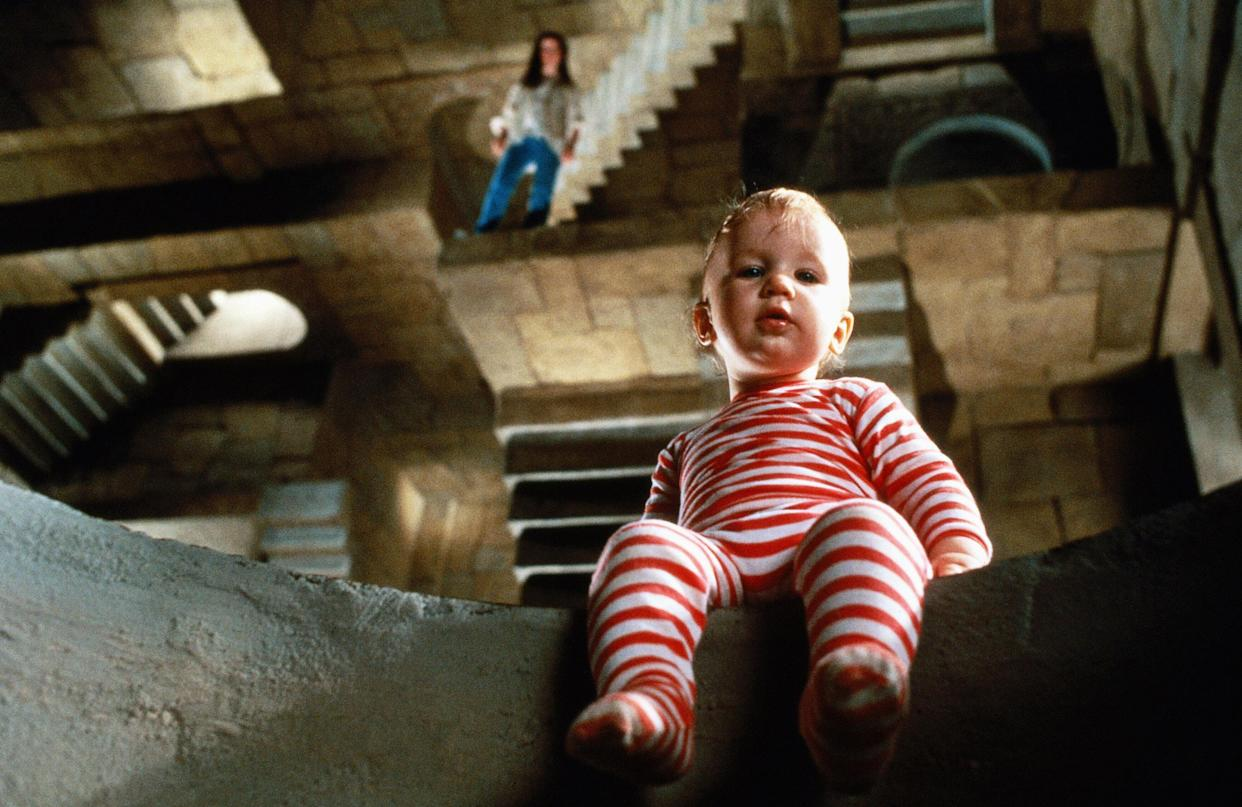 Brian and Wendy Froud's infant son, Toby, played the kidnapped baby in 'Labyrinth' (Photo: TriStar/courtesy Everett Collection)