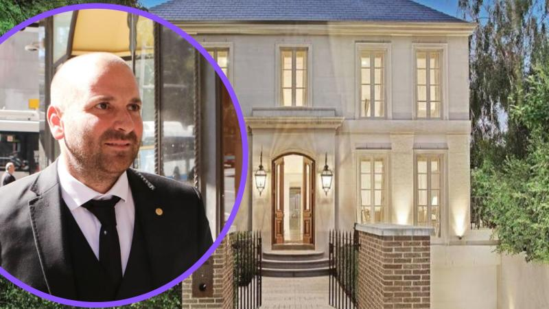 Pictured: Celebrity chef George Calombaris and his Toorak home. Images: Getty