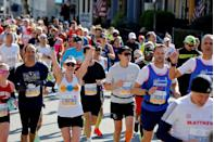 "<p>While this rule may be harder to enforce for spectators, alcohol isn't allowed for anyone at <a href=""https://help.nyrr.org/tcsnycmarathon/s/article/what-are-nyrrs-rules-of-competition1"" rel=""nofollow noopener"" target=""_blank"" data-ylk=""slk:New York City Marathon race venues."" class=""link rapid-noclick-resp"">New York City Marathon race venues.</a></p>"