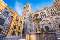 A second Spanish destination, the city of Malaga is said to be a brilliant alternative to its counterparts of the larger cities of Barcelona, Madrid and Valencia, with a cultural and foodie scene to rival. Median flight price: £158.70. Percentage price change: -44%. <em>[Photo: Getty]</em>