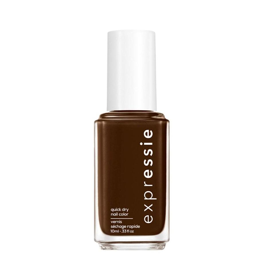 "I just painted my nails brown for the first time, and I'll never go back. It's the perfect fall-to-winter transition shade that matches just about every single thing in my wardrobe. I don't know if it's the <a href=""https://www.glamour.com/story/essie-expressie-quick-dry-nail-polish-review?mbid=synd_yahoo_rss"" rel=""nofollow noopener"" target=""_blank"" data-ylk=""slk:quick-dry time"" class=""link rapid-noclick-resp"">quick-dry time</a> that completely won me over (since I'm the impatient type) or the glossy salon finish, but alternating to a different polish color isn't in the cards for me for quite some time. <em>—Talia Gutierrez, beauty assistant</em> $9, Essie. <a href=""https://shop-links.co/1724720605974029097"" rel=""nofollow noopener"" target=""_blank"" data-ylk=""slk:Get it now!"" class=""link rapid-noclick-resp"">Get it now!</a>"
