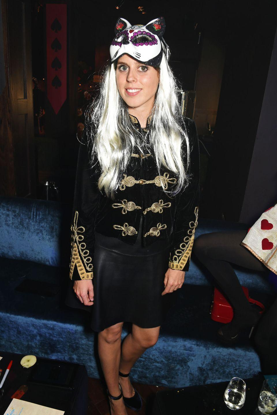 <p>Princess Beatrice in a cat costume for the UNICEF UK Halloween Ball. </p>