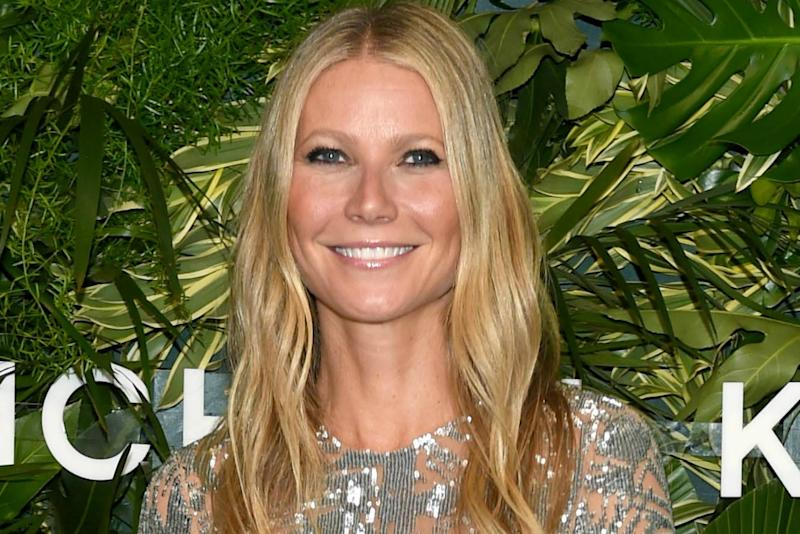 73f5fe007936 You Don t Want to Miss Gwyneth Paltrow s Nude-Illusion Sequined Dress at  Golden Heart Awards