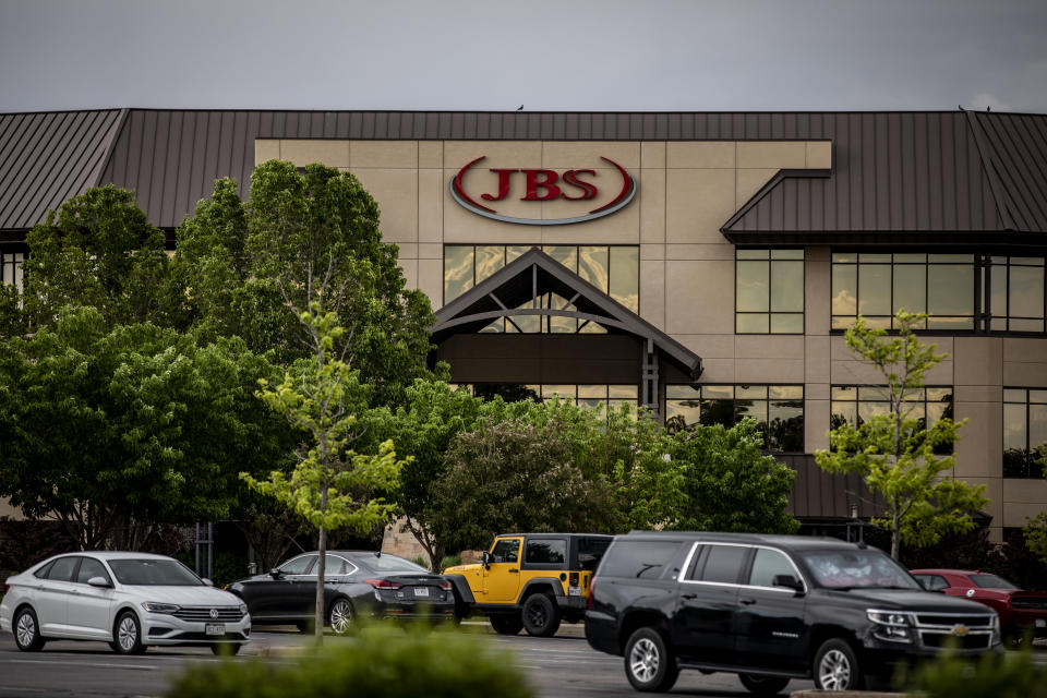 GREELEY, CO - JUNE 01: The JBS North American Headquarters on June 1, 2021 in Greeley, Colorado. JBS facilities around the globe were impacted by a ransomware attack, forcing many of their facilities to shut down. (Photo by Chet Strange/Getty Images)