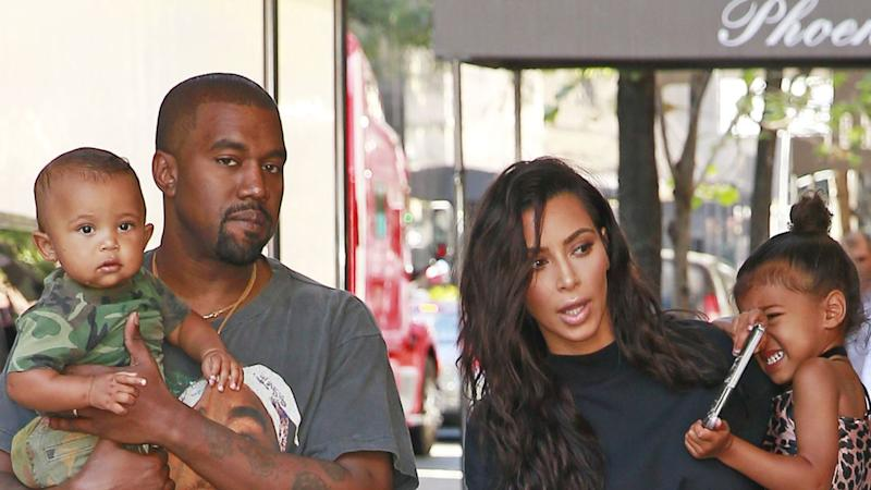 6d8b52bed07 Kim Kardashian and Kanye West Hit the Streets of New York City With Their  Super Stylish Kids