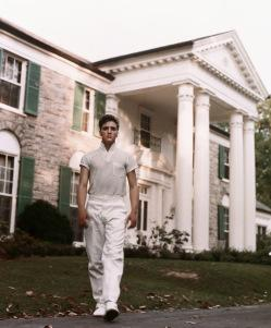 Elvis Presley at Graceland.