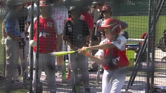 Kids from across the Central Valley took a swing at the Jr. Home Run Derby Saturday at Chukchansi Park in Downtown Fresno.