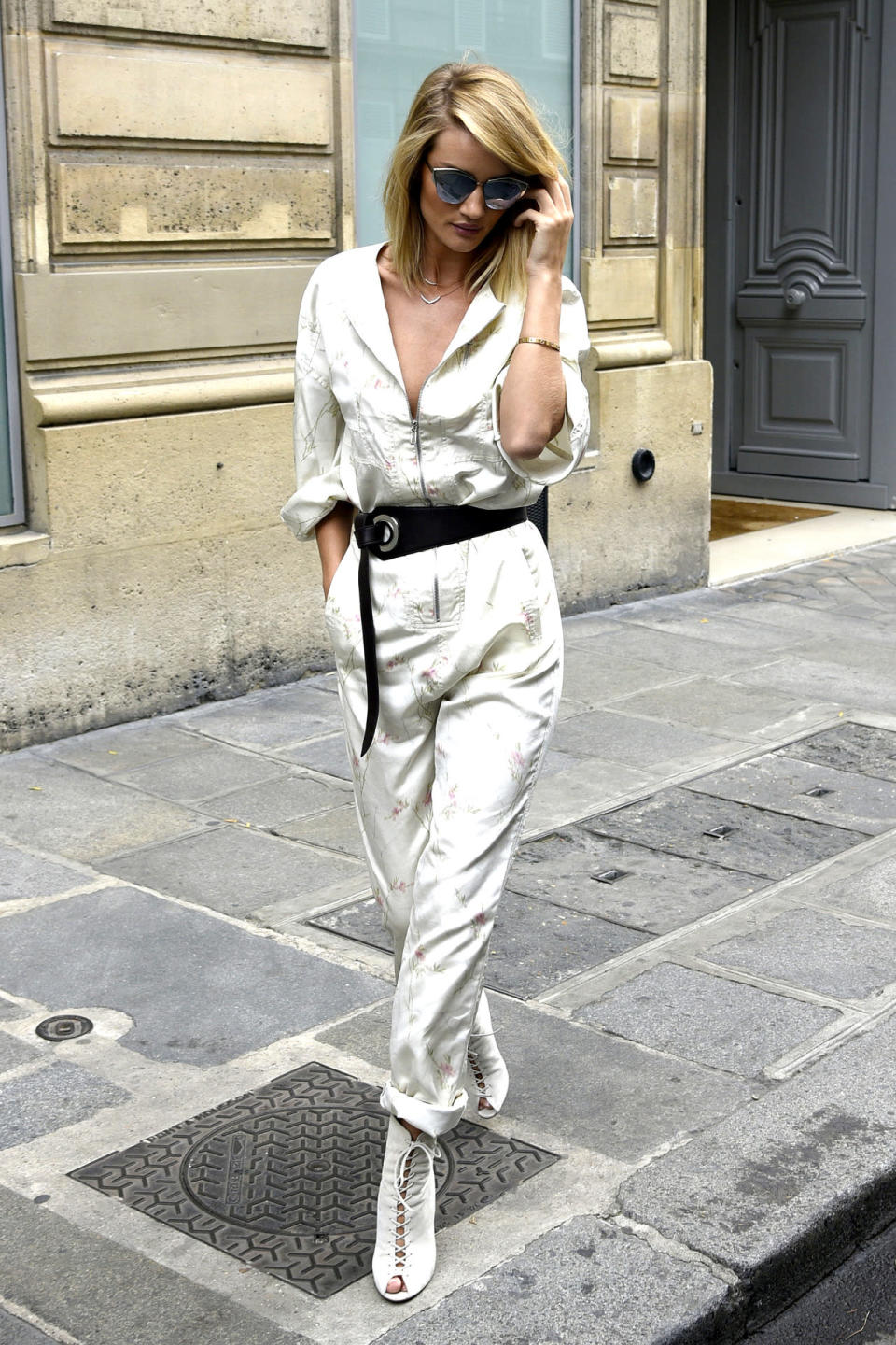 <p>The supermodel was seen on the streets of Paris immaculately dressed in a jumpsuit that only a figure like hers can pull off.<br><br></p>
