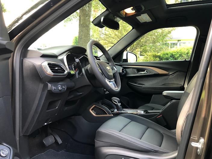 "The interior isn't fancy, but it isn't uncomfortable or cheap-seeming, either. <p class=""copyright"">Matthew DeBord/Insider</p>"