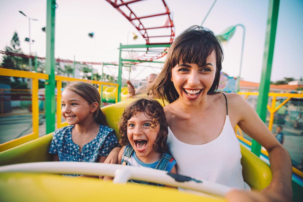 <p>All ages will enjoy a day trip to an amusement park, whether you're celebrating with your kids or your mom, since there are rides for everyone. Finish the day with a giant stick of cotton candy.</p>