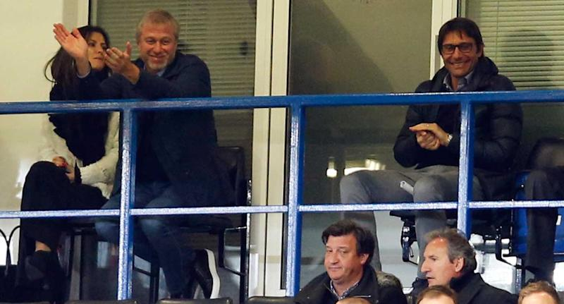 Roman Abramovich and Antonio Conte