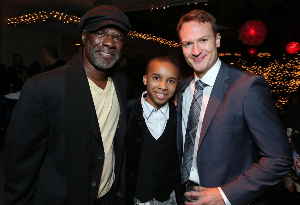 Glynn Turman, Donis Leonard Jr. and Josh Lawson at Showtime's 7th Annual Holiday Soiree on December 3, 2012 in Beverly Hills, California.