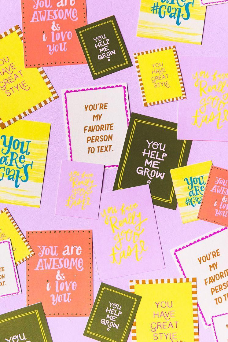 """<p>Download the printable compliment cards, or get out the card stock, markers, and glitter to let kids make their own custom versions. Valentine's Day is a great time to show their love and appreciation for friends and family, and recipients will feel so special.</p><p><em><a href=""""https://thehousethatlarsbuilt.com/category/holiday/valentines-day/"""" rel=""""nofollow noopener"""" target=""""_blank"""" data-ylk=""""slk:Get the how-to at The House That Lars Built»"""" class=""""link rapid-noclick-resp"""">Get the how-to at The House That Lars Built»</a></em><strong><br></strong></p><p><strong>RELATED:</strong> <a href=""""https://www.goodhousekeeping.com/holidays/valentines-day-ideas/g1332/diy-valentines-day-cards/"""" rel=""""nofollow noopener"""" target=""""_blank"""" data-ylk=""""slk:30 Cute and Quirky DIY Valentine's Day Cards"""" class=""""link rapid-noclick-resp"""">30 Cute and Quirky DIY Valentine's Day Cards</a></p>"""