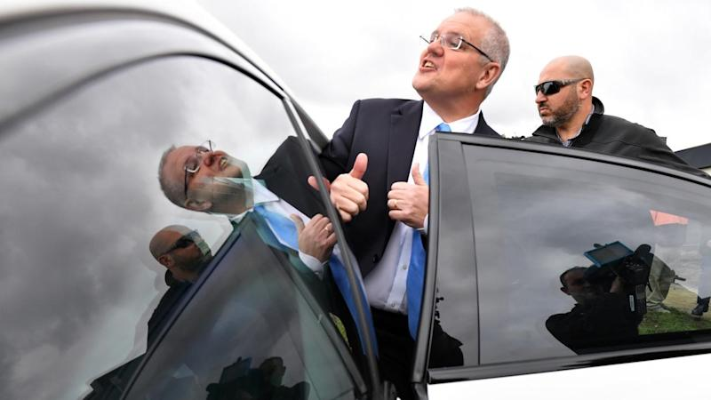 Prime Minister Scott Morrison has visited a Sydney market ahead of a major speech in Canberra