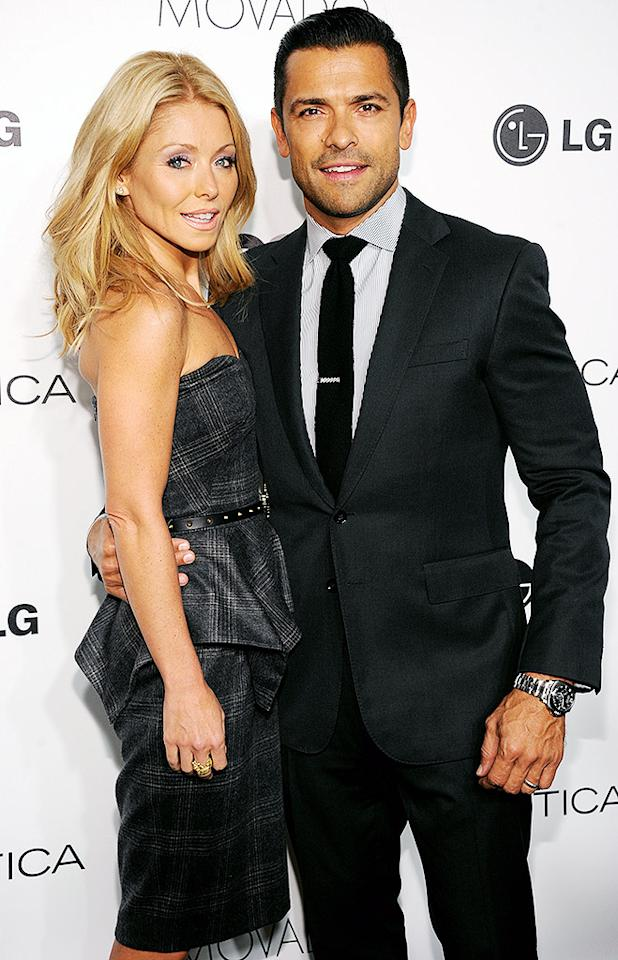 NEW YORK, NY - OCTOBER 24:  Kelly Ripa and Mark Consuelos attend the 2012 GQ Gentlemen's Ball presented by LG, Movado, and Nautica on October 24, 2012 in New York City.  (Photo by Dimitrios Kambouris/WireImage for GQ)