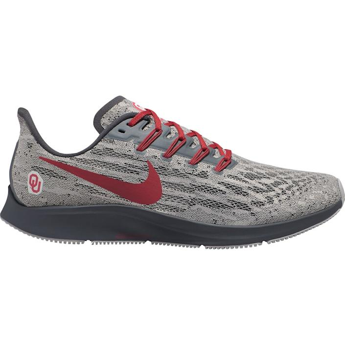 Men's Nike Gray/Crimson Oklahoma Sooners Air Zoom Pegasus 36 Sneakers