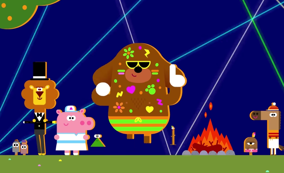 """Hey Duggee's """"rave nostalgia"""" has struck a chord with parents and toddlers across the UK. (BBC)"""