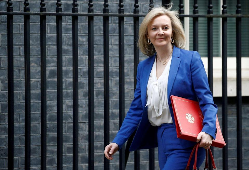 Liz Truss, the British trade secretary, outside Downing Street in London, Britain on March 17, 2020. Photo: Reuters