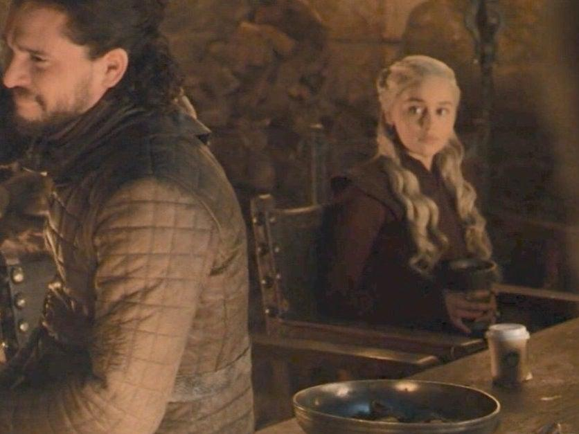 Game of Thrones coffee cup scene (HBO)