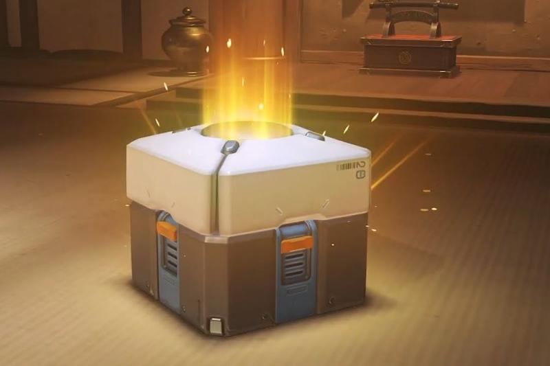 Una caja de recompensa del videojuego Overwatch (Blizzard Entertainment)