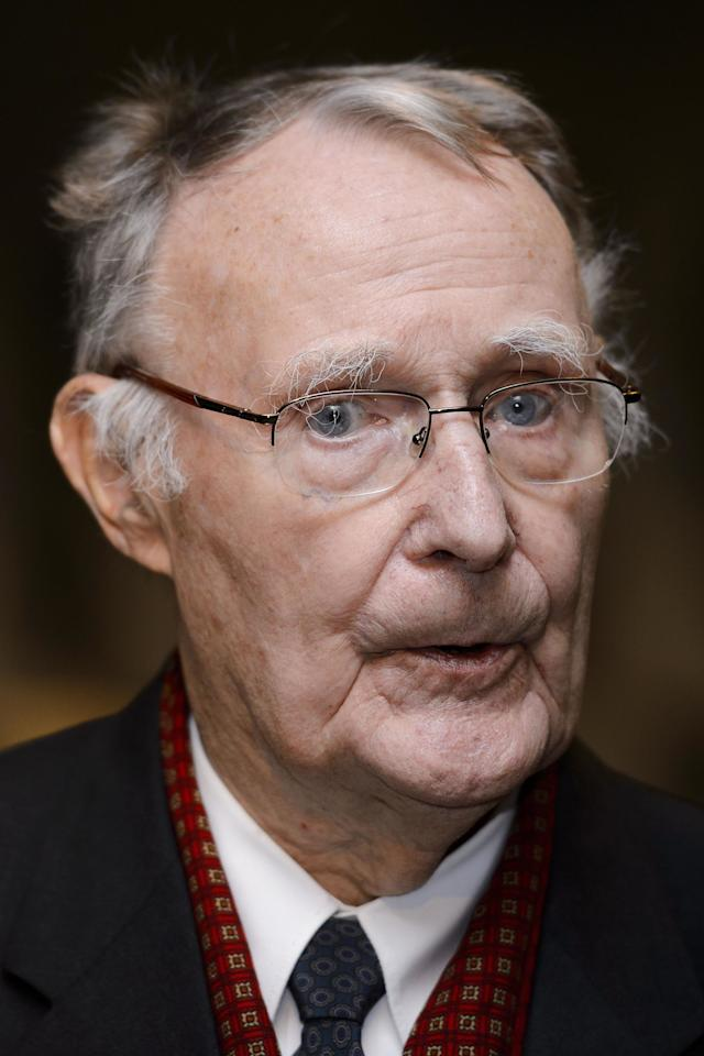 "For a store with a design aesthetic that feels impossibly modern, it's hard to imagine IKEA existing right around when gingham kitchens came into style. But Ingvar Kamprad who was just 17-years-old at the time, launched IKEA as mail-order sales business that originally only sold small items, like picture frames. Now he's 89 and worth $3.4 billion. Not-so-fun fact: Kampard was actually a Nazi sympathizer in his youth. But he calls that period ""the greatest mistake of my life,"" and even wrote a letter to employees asking them to forgive him."