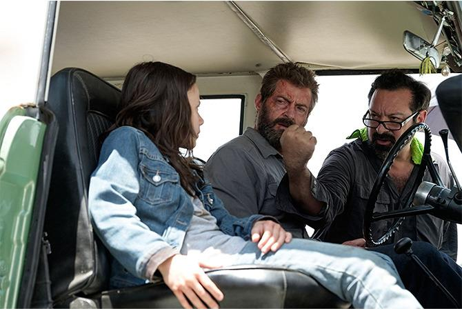 James Mangold dirigiendo Logan.