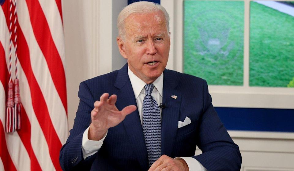 """A joint statement by both governments said that US President Joe Biden """"reaffirms the strategic importance of French and European engagement in the Indo-Pacific region"""". Photo: Reuters"""