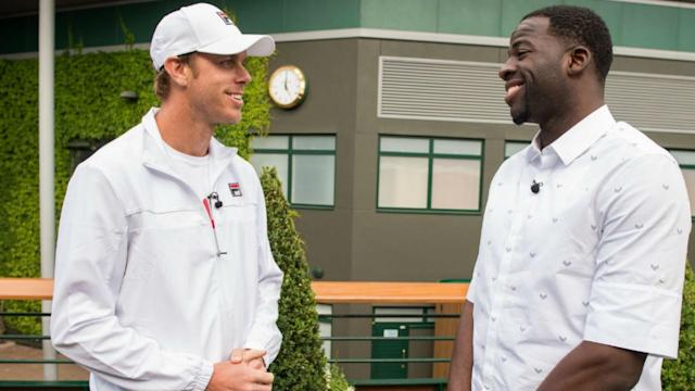 San Francisco-born but a Los Angeles Lakers fan, Sam Querrey didn't want to get too close to Golden State Warriors star Draymond Green