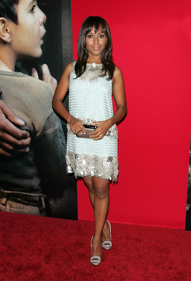 """<a href=""""http://movies.yahoo.com/movie/contributor/1800354354"""">Kerry Washington</a> at the New York City premiere of <a href=""""http://movies.yahoo.com/movie/1809947151/info"""">Miracle at St. Anna</a> - 09/22/2008"""