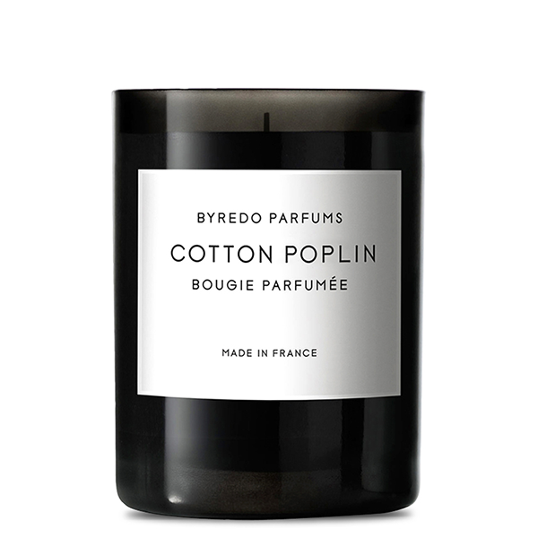 """<p>Byredo Cotton Poplin</p><p>£59</p><p>Net-a-porter.com</p><p><a class=""""link rapid-noclick-resp"""" href=""""https://go.redirectingat.com?id=127X1599956&url=https%3A%2F%2Fwww.net-a-porter.com%2Fen-gb%2Fshop%2Fproduct%2Fbyredo%2Fcotton-poplin-scented-candle-240g%2F594874%3Ffi%3Dwp&sref=https%3A%2F%2Fwww.harpersbazaar.com%2Fuk%2Fbeauty%2Ffragrance%2Fg30698193%2Fbest-scented-candles%2F"""" rel=""""nofollow noopener"""" target=""""_blank"""" data-ylk=""""slk:SHOP NOW"""">SHOP NOW</a></p><p> Byredo's cult candles are loved for more than their status-symbol aesthetic. The brand's most fail-safe scent, Cotton Poplin smells fresh, clean and entirely crowd-pleasing. <br></p><p>Something cosier? Try the equally well-loved, vanilla and bourbon <a href=""""https://go.redirectingat.com?id=127X1599956&url=https%3A%2F%2Fwww.net-a-porter.com%2Fen-gb%2Fshop%2Fproduct%2Fbyredo%2Fambre-japonais-scented-candle-240g%2F577974&sref=https%3A%2F%2Fwww.harpersbazaar.com%2Fuk%2Fbeauty%2Ffragrance%2Fg30698193%2Fbest-scented-candles%2F"""" rel=""""nofollow noopener"""" target=""""_blank"""" data-ylk=""""slk:Ambre Japonai"""" class=""""link rapid-noclick-resp"""">Ambre Japonai</a>s.</p>"""