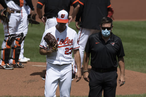 Orioles LH Wade LeBlanc done for season with elbow injury