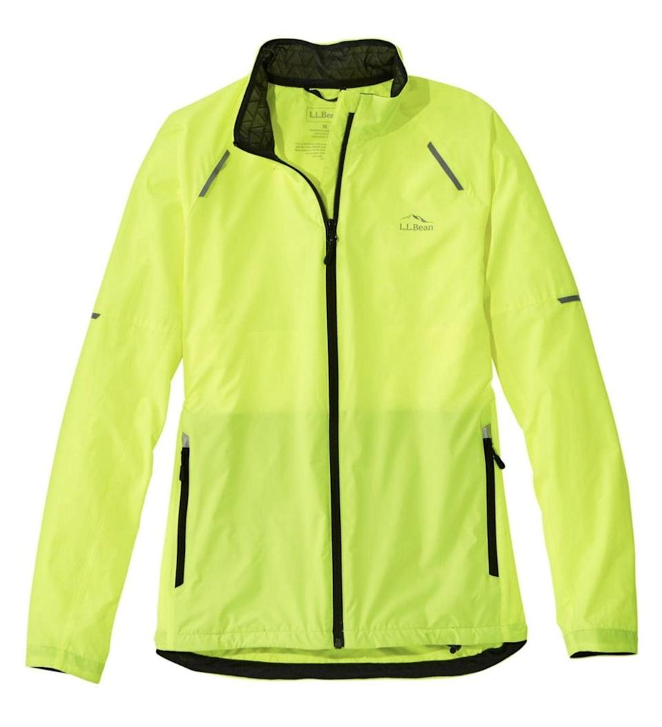 <p>For super early mornings, it's a good idea to wear something brightly colored or reflective so you'll be visible to cars in the dark. The <span>L.L. Bean Women's Bean Bright Multisport Jacket</span> ($89) is an eye-catching neon green.</p>
