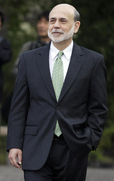 """Federal Reserve Chairman Ben Bernanke walks outside of the Jackson Hole Economic Symposium, Friday, Aug. 31, 2012, at Grand Teton National Park near Jackson Hole, Wyo. Bernanke made clear Friday that the Federal Reserve will do more to boost the economy because of high U.S. unemployment and an economic recovery that remains """"far from satisfactory."""" (AP Photo/Ted S. Warren)"""