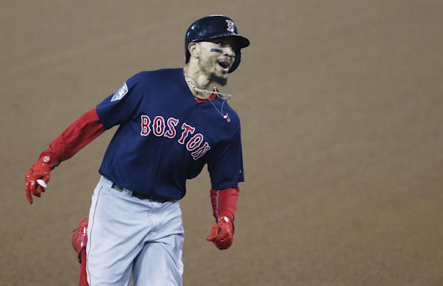 Mookie Betts had a quiet postseason, but he's still the Red Sox MVP. (AP)