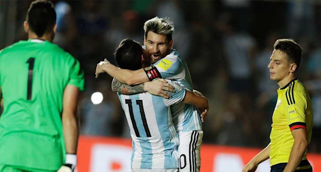 "<a class=""link rapid-noclick-resp"" href=""/soccer/players/lionel-messi"" data-ylk=""slk:Lionel Messi"">Lionel Messi</a> produced another sick free kick. (AP Photo)"