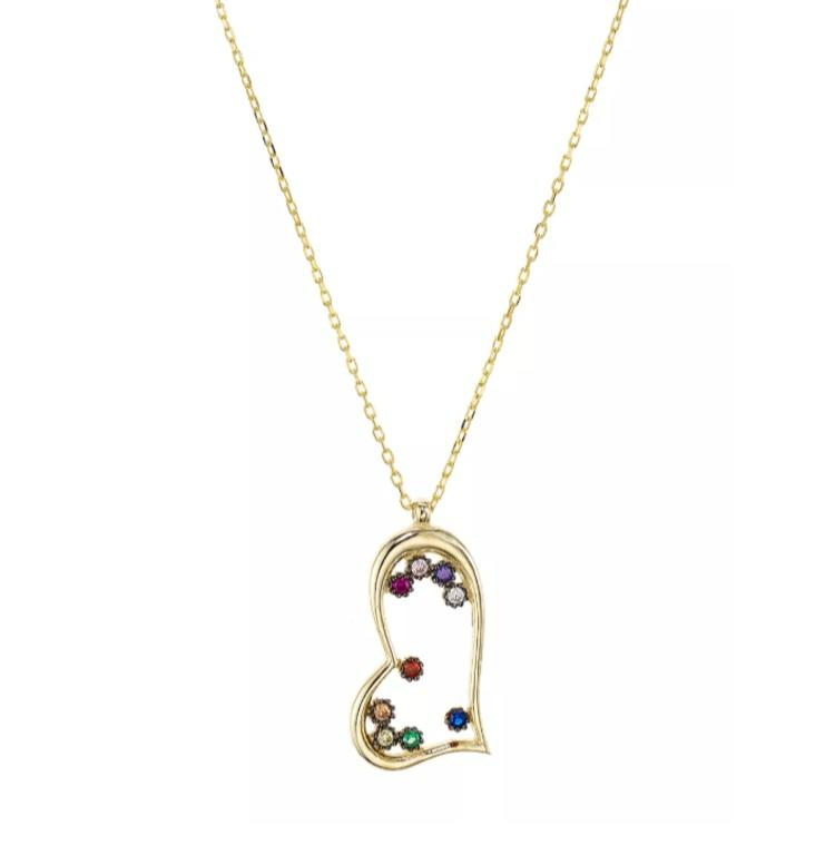 Open Heart Pendant Necklace in Gold-Plated Sterling Silver. (Photo: Bloomingdale's)