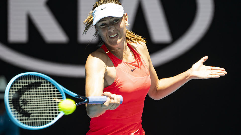 Maria Sharapova, pictured here in action at the Australian Open in January.