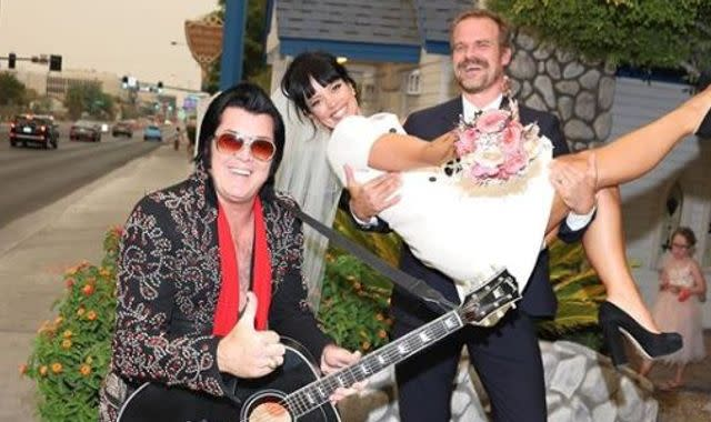 Lily Allen and Stranger Things star David Harbour marry in Las Vegas after year of dating