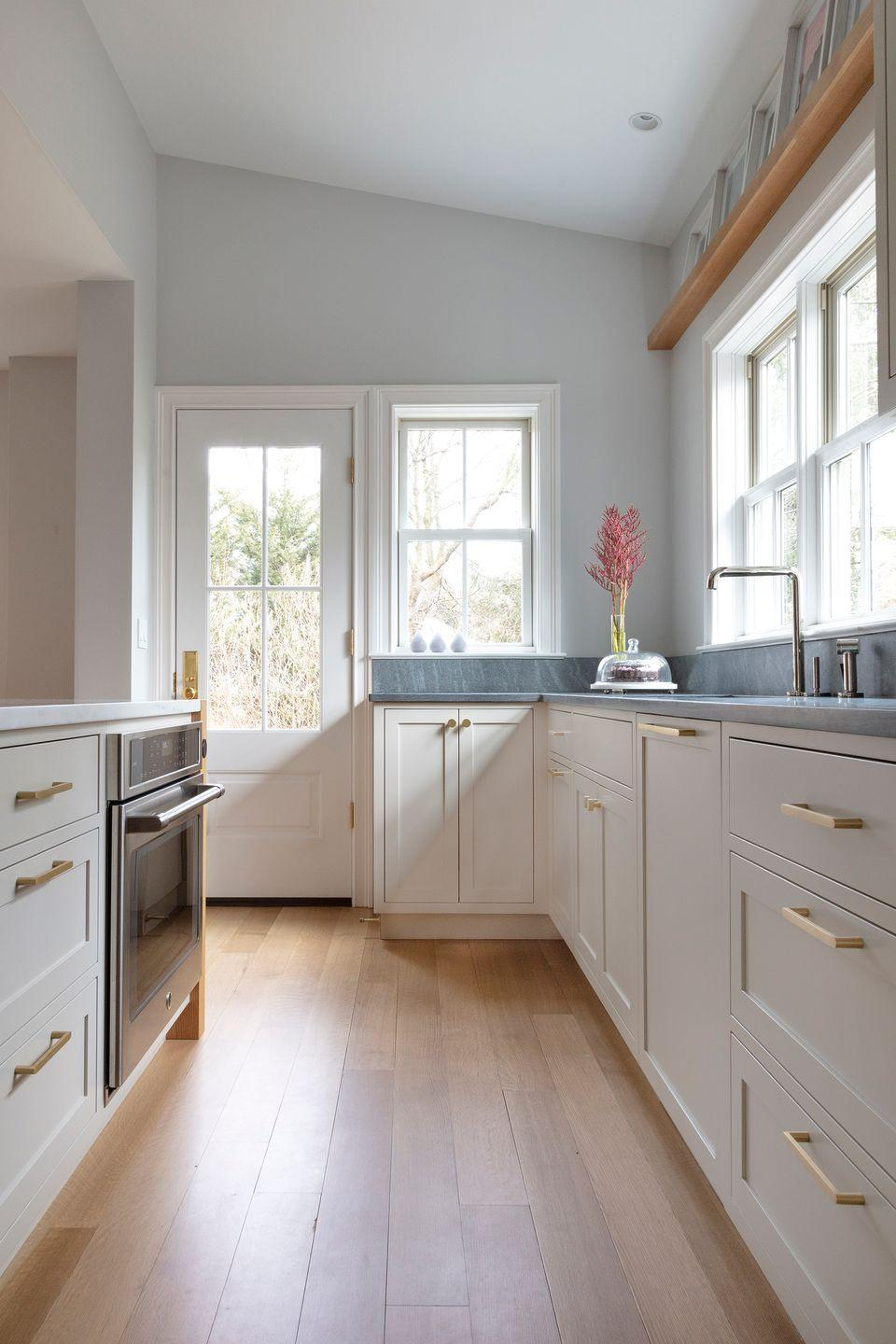 """<p>Gray paint colors, like Farrow & Ball's Dimpse, are beyond versatile, according to architect and designer <a href=""""http://mkoconnor.com/"""" rel=""""nofollow noopener"""" target=""""_blank"""" data-ylk=""""slk:Mindy O'Connor"""" class=""""link rapid-noclick-resp"""">Mindy O'Connor</a>. """"Dimpse is a cool pale gray that works as a terrific neutral in lieu of white in modern space. It is a perfect backdrop for kitchen cabinetry or against other natural wood and stone elements without overwhelming the design. While setting a more cool tone, it is not stark.""""</p><p><a class=""""link rapid-noclick-resp"""" href=""""https://go.redirectingat.com?id=74968X1596630&url=https%3A%2F%2Fwww.farrow-ball.com%2Fen-us%2Fpaint-colours%2Fdimpse&sref=https%3A%2F%2Fwww.goodhousekeeping.com%2Fhome%2Fdecorating-ideas%2Ftips%2Fg3902%2Finterior-paint-colors%2F"""" rel=""""nofollow noopener"""" target=""""_blank"""" data-ylk=""""slk:SHOP NOW"""">SHOP NOW</a></p>"""