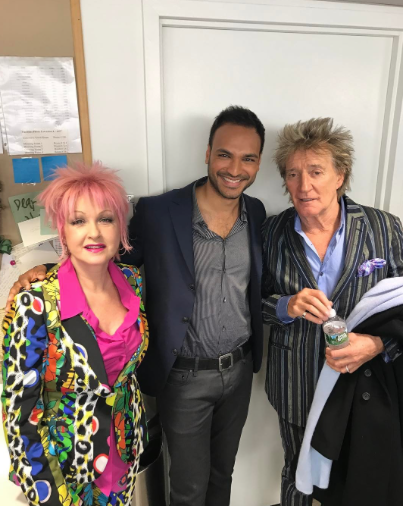<p>Never know who you are gonna run into in the green room of @todayshow! So lovely to meet @sirrodstewart and @cyndilauper! </p>