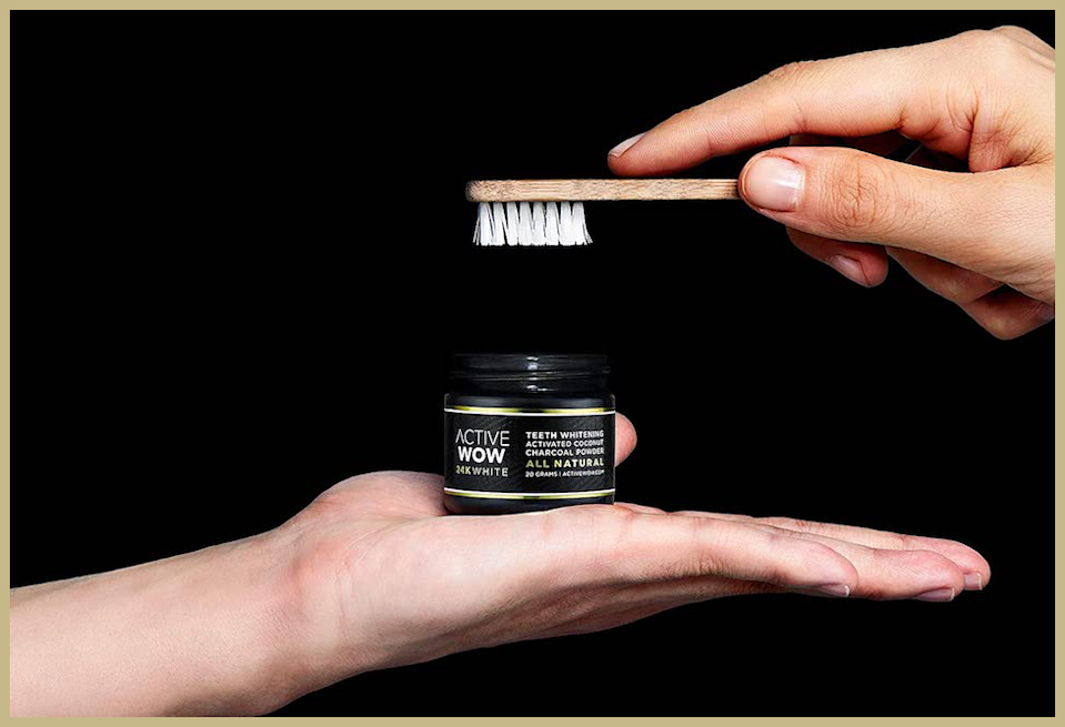 Dip your toothbrush into Active Wow activated charcoal powder on its own, or follow up with toothpaste after. (Photo: Amazon)