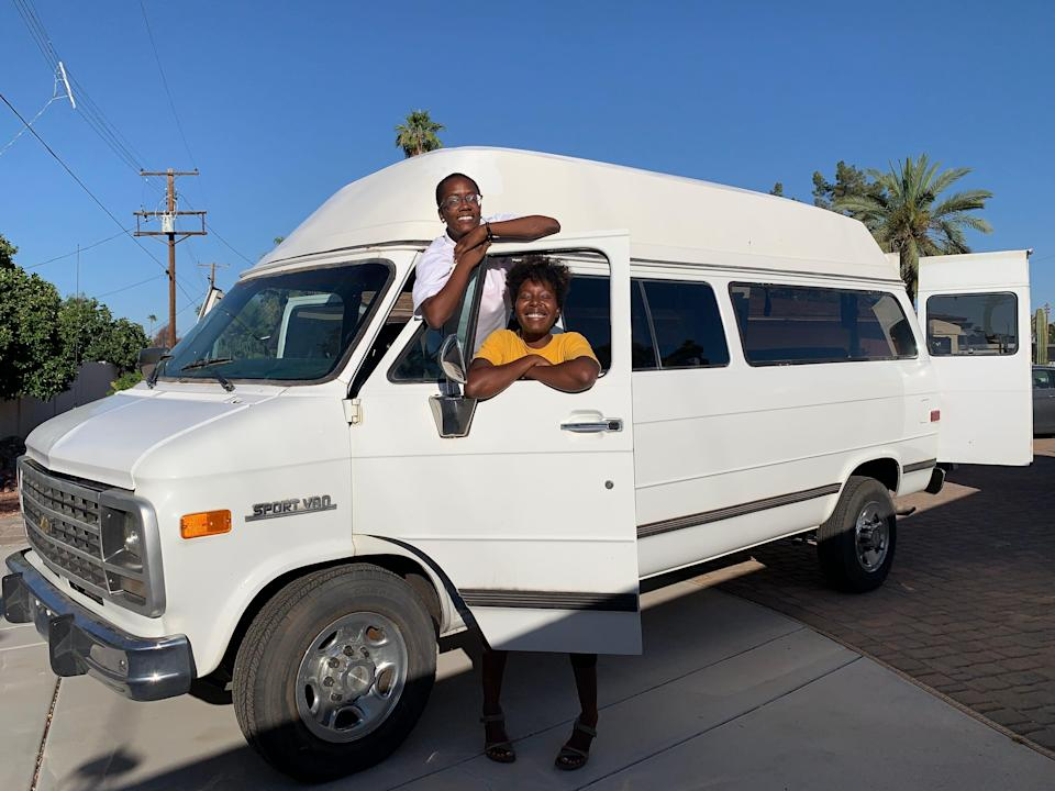 Bringing our van home for the first time.JPG