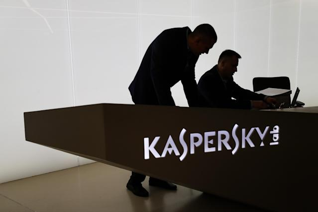 The Moscow headquarters of the Russian cybersecurity company Kaspersky Lab. (Photo by Sergei Savostyanov/Tass via Getty Images)