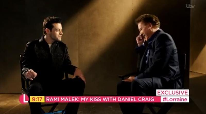 Villain: Rami Malek speaking on Lorraine Kelly this morning with Ross King (ITV)